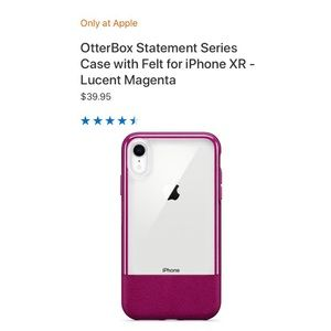 Otter box statement series case with felt